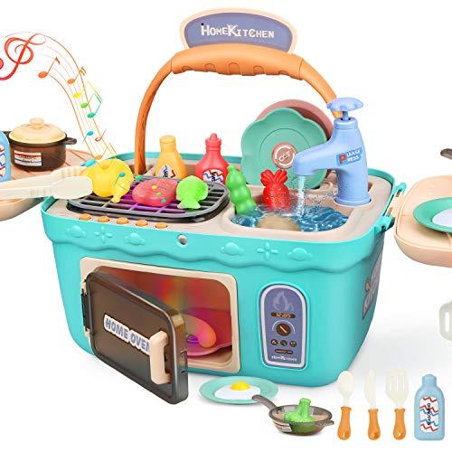 Dreamon Spielküche Spielzeug Kinderküche Zubehör Kochset Kinder...