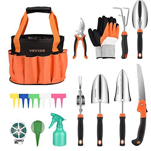 VEVICE Gartenwerkzeug Set, Gartengeschenk für Frauen, 13-teiliges...