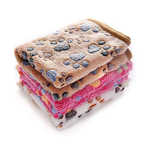1 Pack 3 Decken Super Weich Fluffy Premium Fleece Haustier Decke...