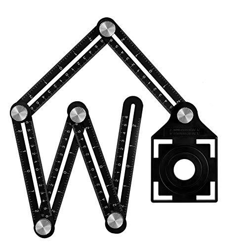 Winkelschablone Template Tool Multi-angle Winkelmesser Lineal Metall...