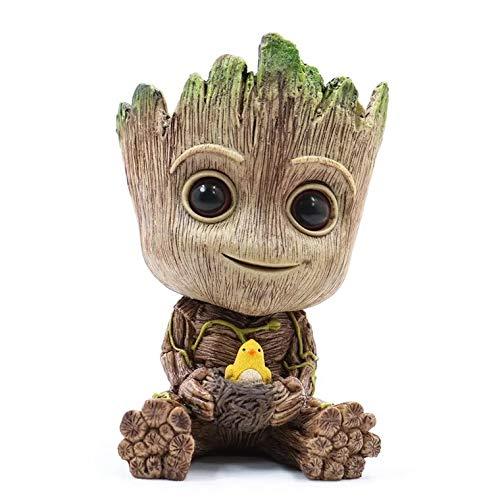 thematys® Baby Groot Blumentopf Deko Dekoration Action Figur Pflanzen...