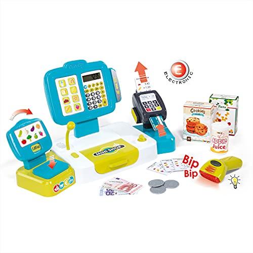 Smoby - Elektronische Supermarktkasse XL - Spielkasse mit...