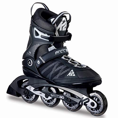 K2 Inline Skates F.I.T. 80 Für Herren Mit K2 Softboot, Black - Grey,...