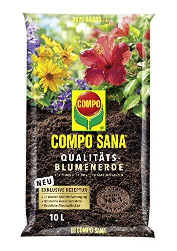 Compo SANA Qualitäts-Blumenerde mit 12 Wochen Dünger für alle...