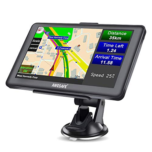 AWESAFE GPS Navi Navigation für Auto LKW PKW KFZ Navigationsgerät 7...