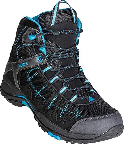 Dachstein Trekkingschuhe hoch in Schwarz mit blauen Details, Bequeme...
