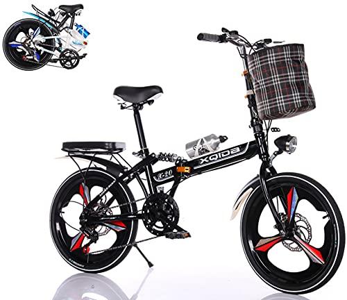 Fahrrad klappbar 20 Zoll Faltbares Fahrrad Klapprad mit Stoßdämpfer...