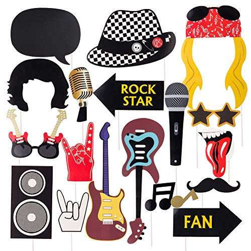 SUNBEAUTY 18er Set Rock and Roll Foto Requisiten Rock Star Musik Party...