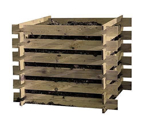 Steckkomposter Holz Kompostsilo Bausatz 100x100x70cm Komposter