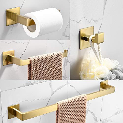 WOMAO Toilettenrollenhalter Gold Ohne Bohren Selbstklebend Garderobe...