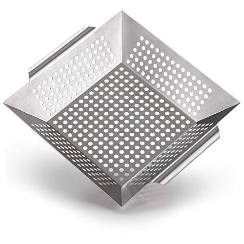 Blumtal Grillkorb aus 100% Edelstahl - perfekt für Grillgemüse,...