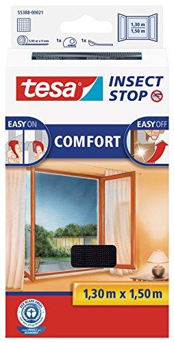 tesa Insect Stop COMFORT Fliegengitter für Fenster - Insektenschutz...