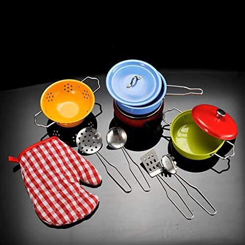 Seciie 11 Stück Kochgeschirr Kinder Edelstahl Kinderküche Zubehör...