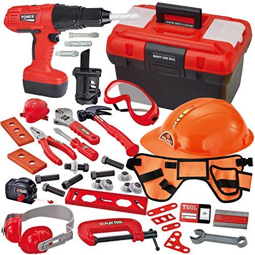 JOYIN 40-teiliges Werkzeugkoffer, Kinder Werkzeug Set Spielwerkzeug...