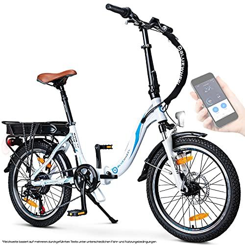 BLUEWHEEL 20' klappbares E-Bike I Deutsche Qualitätsmarke I Shimano 7...