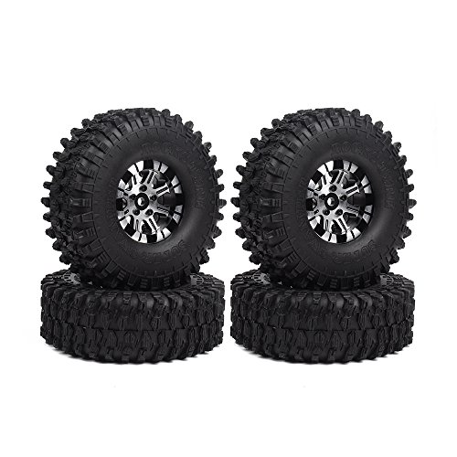 INJORA 1,9 RC Crawler Reifen Set mit Beadlock Felgen 4Pcs Tires mit...