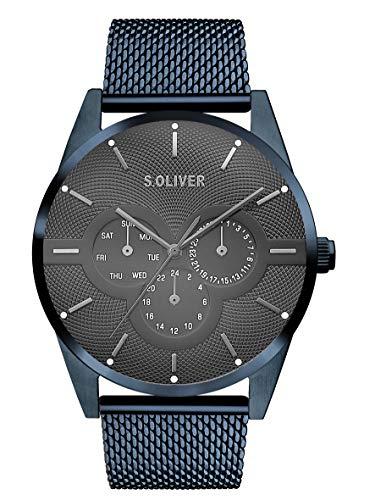 s.Oliver Herren Multi Zifferblatt Quarz Armbanduhr mit...