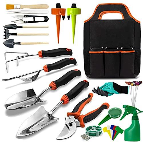 Gartenwerkzeug set, OMNIQI 36 Gartengeräte Set aus Edelstahl mit...
