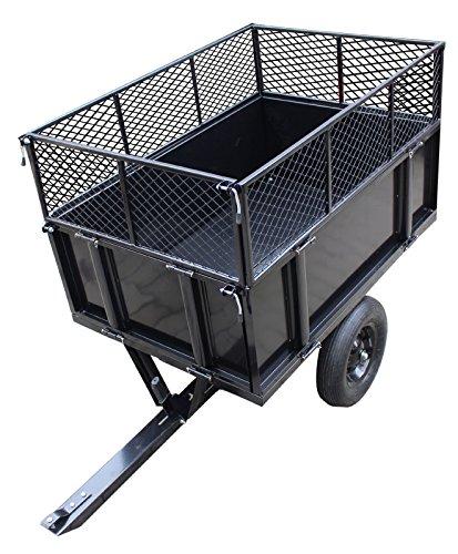 TRUTZHOLM® Anhänger Rasentraktor 300 kg kippbar Aufsitzmäher...