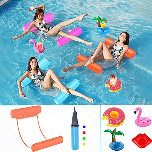 Hook Luftmatratze Pool Wasserhängematte Erwachsene, Pool Zubehör...