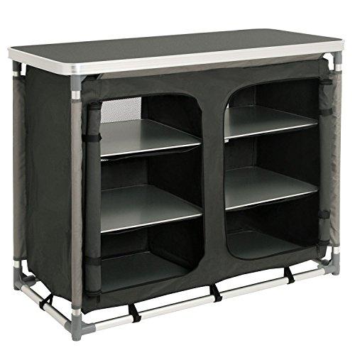 CampFeuer - Campingschrank, Campingküche mit Aluminiumgestell, ca....