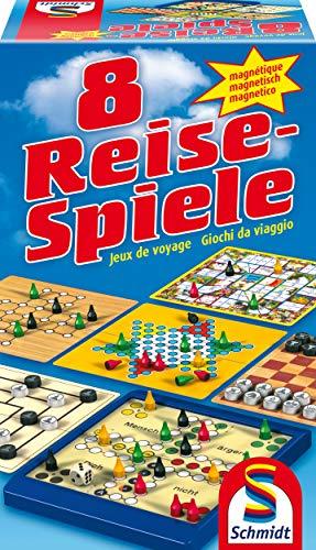 Schmidt Spiele 49102 - 8 Reise-Spiele, Spielesammlung, magnetisch,...