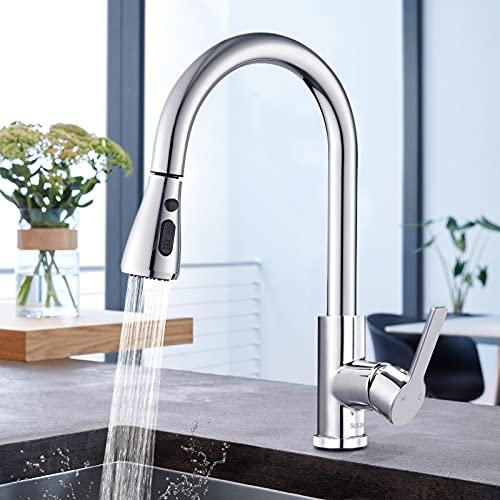 Ausziehbar Küchenarmatur mit 360° Schwenkbar, Wasserhahn Küche mit...