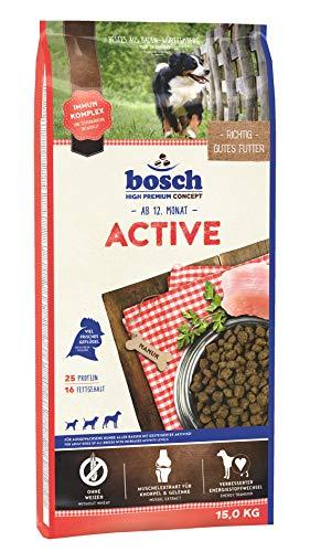 bosch HPC Active | Hundetrockenfutter für ausgewachsene Hunde aller...