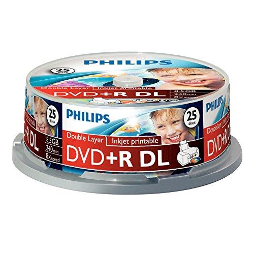 Philips DVD+R Rohlinge (8.5 GB Data/ 240 Minuten Video, 8X High Speed...