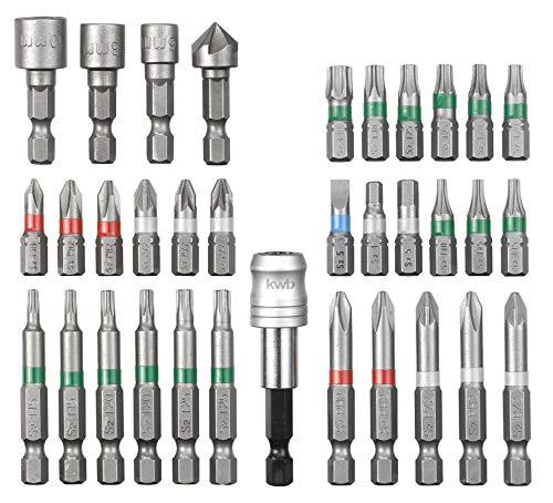 kwb by Einhell Bitsatz 34-tlg. S-Box Werkzeug-Zubehör (34 teiliger...