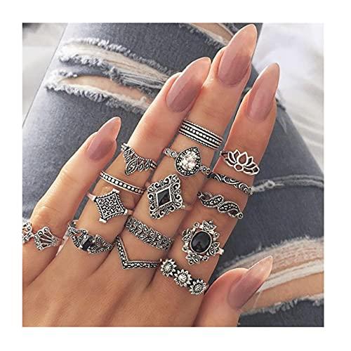 Togethor Damenmode Vintage Look Knöchelring, Schmuck Ringe Set Ringe...