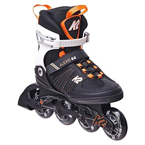 K2 Inline Skates ALEXIS 80 Für Damen Mit K2 Softboot, Black - Orange,...