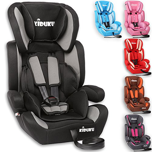 KIDUKU® Kindersitz 9-36 kg (1-12 Jahre) - Autositz ECE R44/04, Gruppe...
