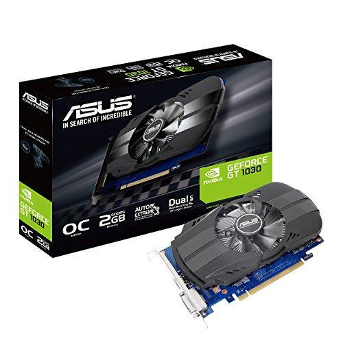 Asus Phoenix GeForce PH-GT1030-O2G Grafikkarte (Nvidia, PCIe 3.0, 2GB...