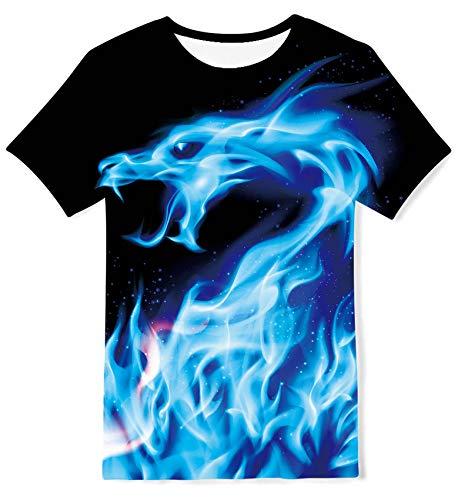 Kids4ever Jungen Mädchen T-Shirts Lustige 3D Galaxis Drachen Grafik...