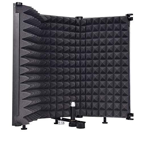 Sararoom Faltbarer Mikrofon-Isolationsschutz, einstellbarer...