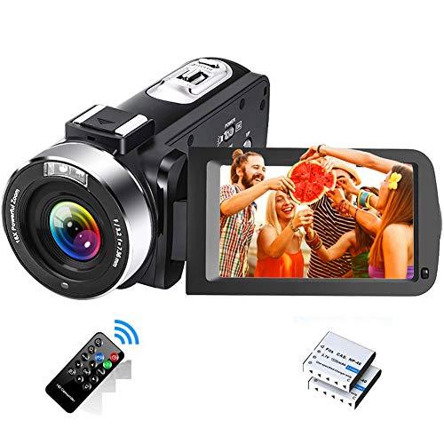 Videokamera Full HD 2.7K 30FPS Camcorder Tragbare Vlogging-Kamera 42...