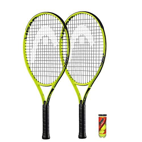 HEAD Extreme Junior 2 x Tennisschläger + 3 Balls and Protective...