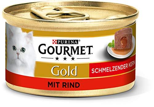 PURINA GOURMET Gold Schmelzender Kern Katzenfutter nass, mit Rind,...
