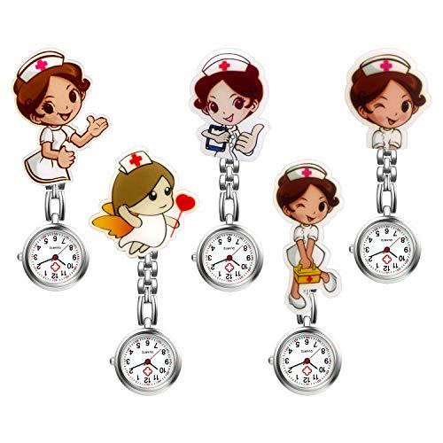 LANCARDO Uhren, Krankenschwester Armbanduhr FOB-Uhr Damen Taschenuhr...