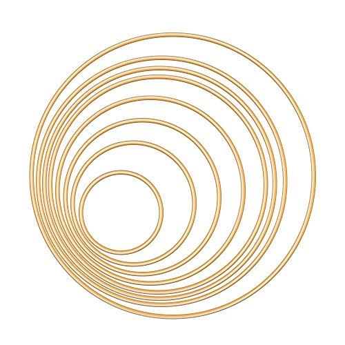 Dadabig 16 Stück Metalringe für Traumfänger, Gold Metall Ringe...