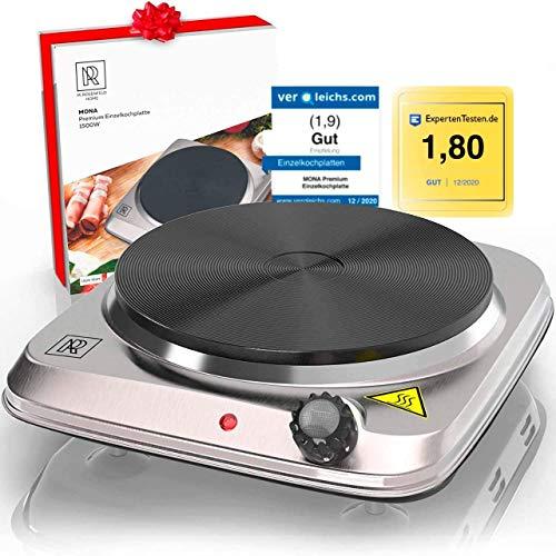 M. ROSENFELD HOME Premium Kochplatte Einzeln 1500W Edelstahl...