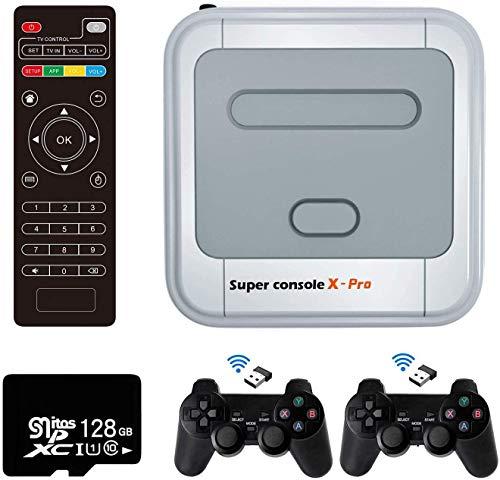 Retro Arcade Spielekonsole WiFi Super Console X Pro 128GB mit 41000...