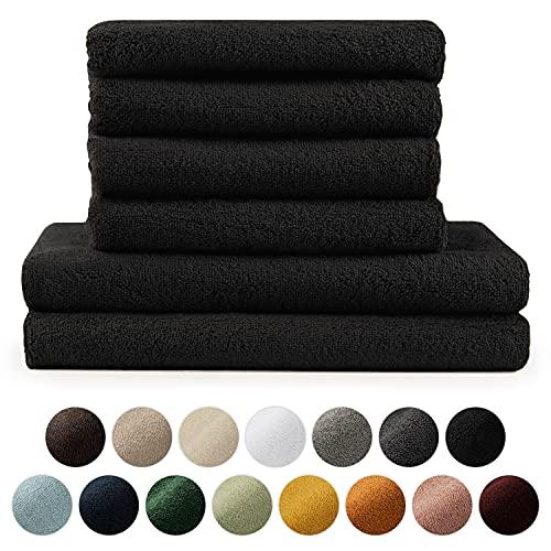 Blumtal Handtücher Set 2 Badetücher 70x140 + 4 Handtücher 50x100 -...