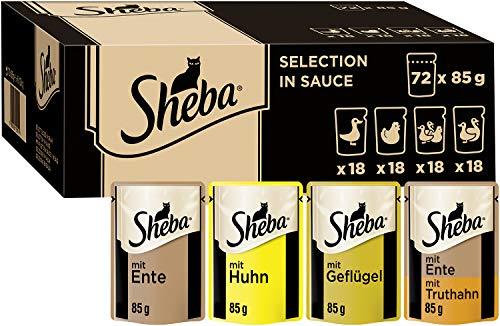 Sheba Selection in Sauce – Katzenfutter mit Geflügel in Sauce für...