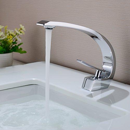 BONADE Waschtischarmatur Wasserhahn Chrom Bad Armatur Einhebelmischer...