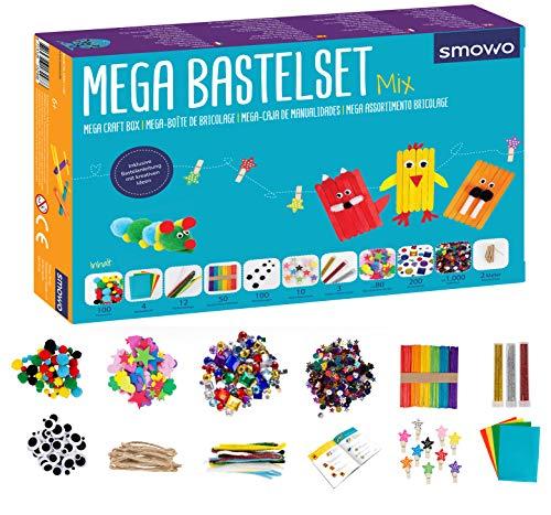 Smowo® Mega Bastelset Starterset - Bastelbox Mix - mit kreativen...
