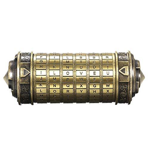 Decdeal Da Vinci Code Mini Cryptex Schlösser Metall Toys Schmuck...