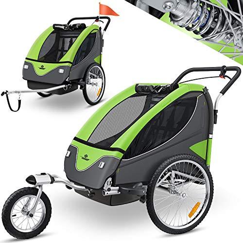KESSER® Cruiser Kinderanhänger Fahrradanhänger 360° Drehbar mit...