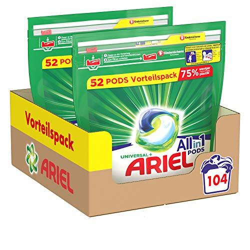 Ariel Waschmittel Pods All-in-1, 104 Waschladungen, Strahlend Rein,...